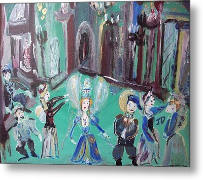 Metal Print featuring the painting Tudor Fairies by Judith Desrosiers