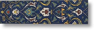 Turkish Textile Pattern Metal Print