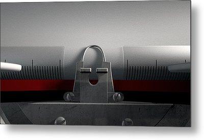 Typewriter With Paper Metal Print by Allan Swart