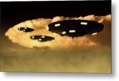 Ufo Invasion Force Metal Print