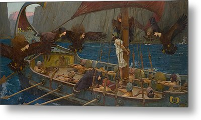 Ulysses And The Sirens Metal Print by John William Waterhouse