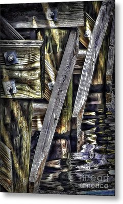 Under The Boardwalk Metal Print by Walt Foegelle