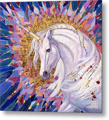 Unicorn II Metal Print by Silvia  Duran