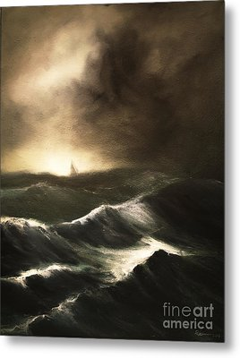 Metal Print featuring the painting Untitled by Stephen Roberson