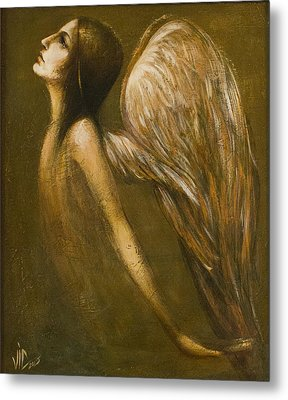 Uriel Guardian Angel Metal Print by Vali Irina Ciobanu