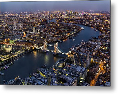 View From The Shard London Metal Print