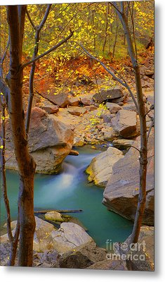 Virgin River In Autumn Metal Print by Dennis Hammer