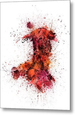 Wales Paint Splashes Map Metal Print