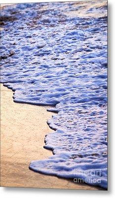 Waves Breaking On Tropical Shore Metal Print by Elena Elisseeva