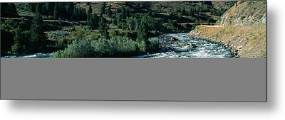White Water On Payette River In Nez Metal Print by Panoramic Images