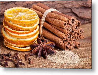 Winter Spices Metal Print by Nailia Schwarz