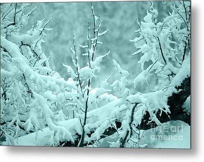 Metal Print featuring the photograph Winter Wonderland In Switzerland by Susanne Van Hulst
