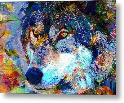 Wolf Metal Print by Elena Kosvincheva