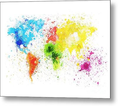 World Map Painting Metal Print by Setsiri Silapasuwanchai