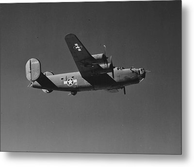 Wwii Us Aircraft In Flight Metal Print by American School