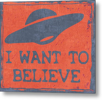 X Files I Want To Believe Metal Print by Kyle West