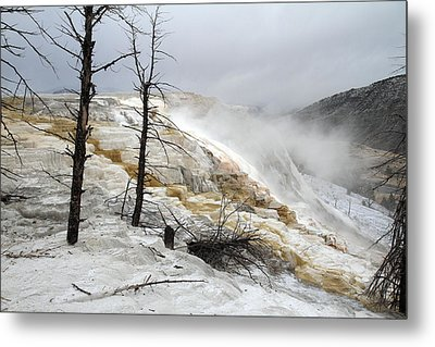 Yellowstone Mammoth Hot Springs Metal Print by Pierre Leclerc Photography