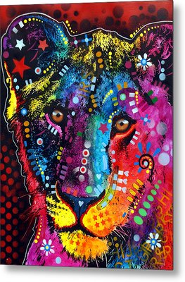 Metal Print featuring the painting Young Lion by Dean Russo