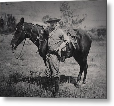 Young Theodore Roosevelt Dressed Metal Print by Everett