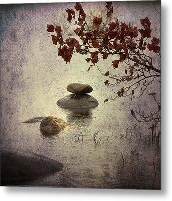 Zen Stones Metal Print