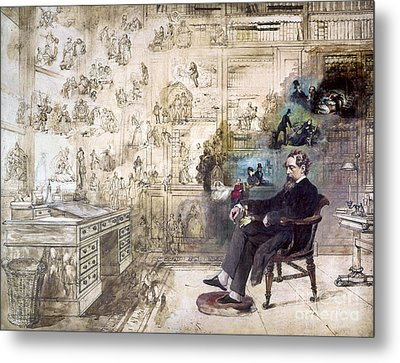 Charles Dickens (1812-1870) Metal Print by Granger