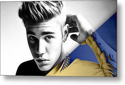 Justin Bieber Collection Metal Print by Marvin Blaine