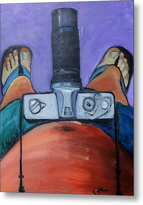 Metal Print featuring the painting 200 Zoom by Gary Coleman