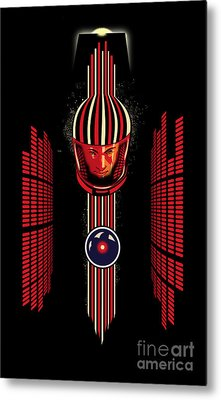 2001 Spaceman Metal Print by Sassan Filsoof