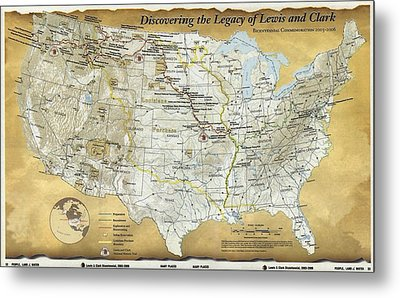 2003 Map Published For The Bicentennial Metal Print