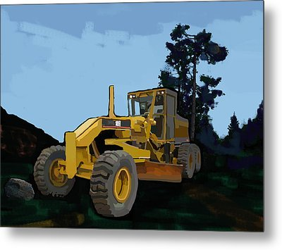 2006 Caterpillar 12h Vhp Plus Motor Grader Metal Print