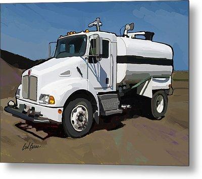 2007 Kenworth T300 Water Truck Metal Print