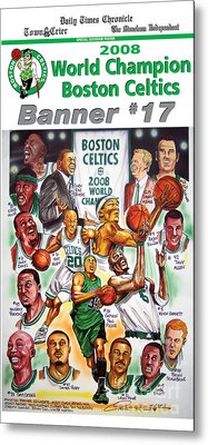 2008 Boston Celtics Team Poster Metal Print