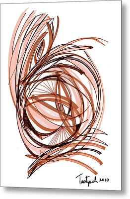 2010 Abstract Drawing Six Metal Print by Lynne Taetzsch