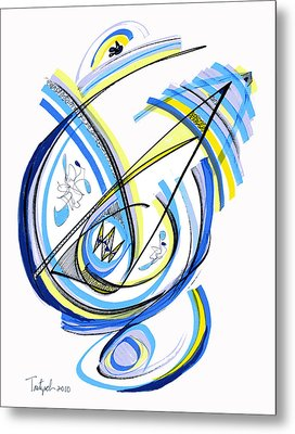 2010 Drawing One Metal Print by Lynne Taetzsch