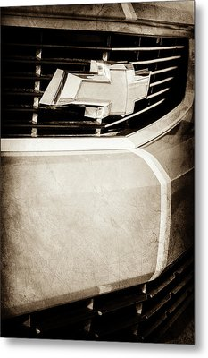 Metal Print featuring the photograph 2011 Chevrolet Camaro Grille Emblem -0321s by Jill Reger