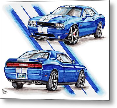 2011 Dodge Challenger Srt Metal Print