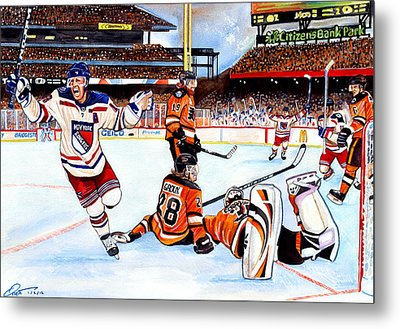 2012 Bridgestone-nhl Winter Classic Metal Print by Dave Olsen