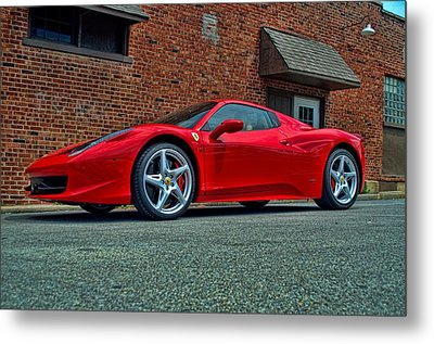 Metal Print featuring the photograph 2012 Ferrari 458 Spider by Tim McCullough