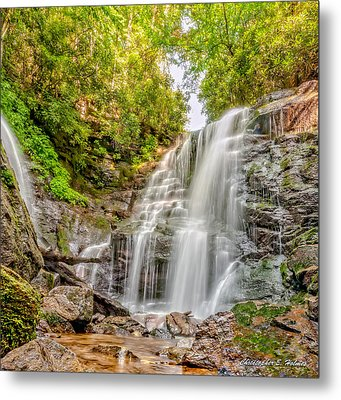 Rocky Falls Metal Print by Christopher Holmes