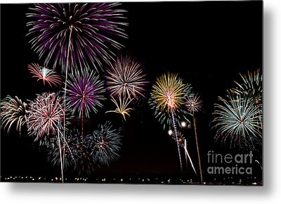2013 Fireworks Over Alton Metal Print
