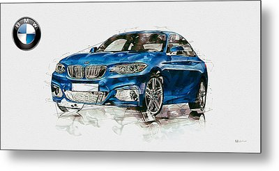 2014 B M W 2 Series Coupe With 3d Badge Metal Print by Serge Averbukh
