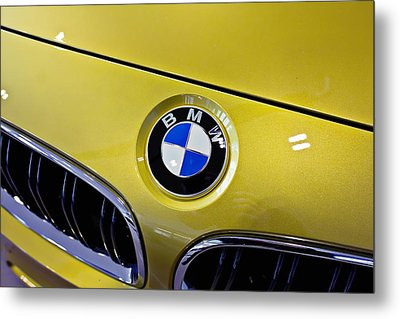 Metal Print featuring the photograph 2015 Bmw M4 Hood by Aaron Berg