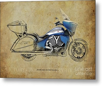 2014 Victory Cross Country Tour Christmas Gift Metal Print by Pablo Franchi