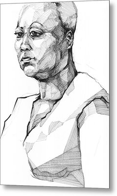 Metal Print featuring the drawing 20140101 by Michael Wilson