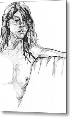 Metal Print featuring the drawing 20140106 by Michael Wilson