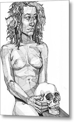Metal Print featuring the drawing 20140116 by Michael Wilson