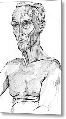 Metal Print featuring the drawing 20140117 by Michael Wilson