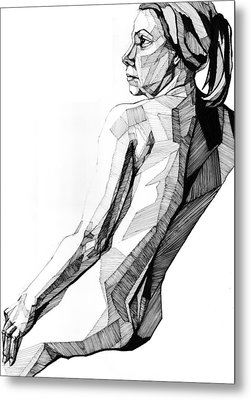 Metal Print featuring the drawing 20140119 by Michael Wilson