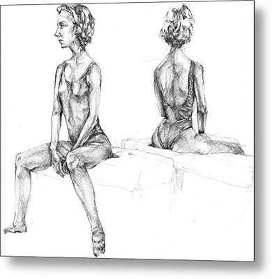 Metal Print featuring the drawing 20140121 by Michael Wilson