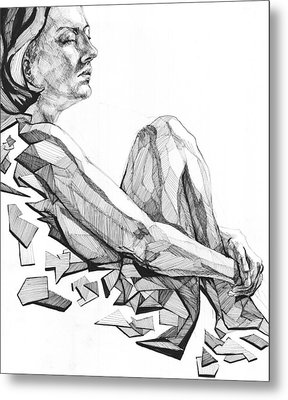 Metal Print featuring the drawing 20140122 by Michael Wilson